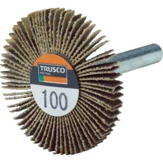 TRUSCO 薄型フラップホイール 40X5X6 #100 5個入 UF4005-100 《※画像はイメージです。実際の商品とは異なります》