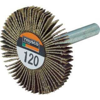 TRUSCO 薄型フラップホイール 40X5X6 #120 5個入 UF4005-120 《※画像はイメージです。実際の商品とは異なります》