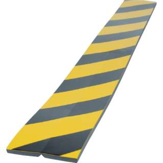 TRUSCO セーフティクッション コーナー用 幅100 長さ910 黄黒 TSC-8100-910