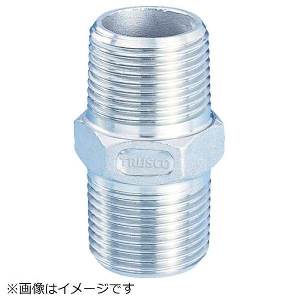 TRUSCO ねじ込み管継手 SUS 六角ニップル 20A TSTN-20A 《※画像はイメージです。実際の商品とは異なります》
