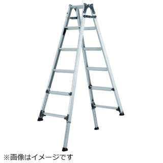 アルインコ 伸縮脚付きはしご兼用脚立 (踏ざん幅60mm・各脚441mm伸縮 PRT120FX 《※画像はイメージです。実際の商品とは異なります》