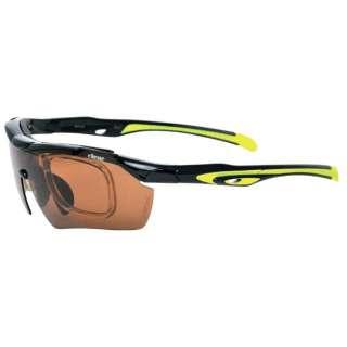 ellesse スポーツサングラス(ブラック×ライムグリーン)ES-S110 2 交換レンズ付き