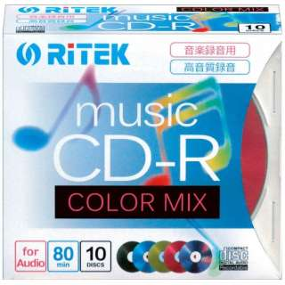 CDRMU8010PMIXC 音楽用CD-R [10枚 /700MB]