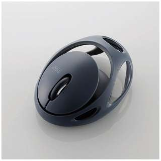 M-EG30BRBK マウス EGG MOUSE FREE ブラック [IR LED /3ボタン /Bluetooth /無線(ワイヤレス)]