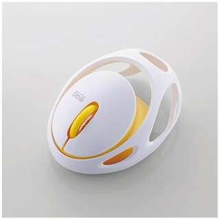 M-EG30BRWH マウス EGG MOUSE FREE ホワイト [IR LED /3ボタン /Bluetooth /無線(ワイヤレス)]