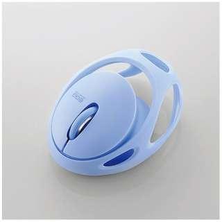 M-EG30BRBU マウス EGG MOUSE FREE ブルー [IR LED /3ボタン /Bluetooth /無線(ワイヤレス)]