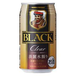 ブラックニッカ クリア&ウォーターケース (350ml/24本)【ウイスキー】