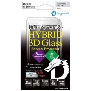 ZenFone 3(ZE520KL)用 HYBRID Glass Screen Protector 3D ドラゴントレイルX ホワイト BKS-ZE52G2DFWH