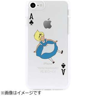 iPhone 7用 ソフトクリアケース トランプ アリス Dparks DS9229I7