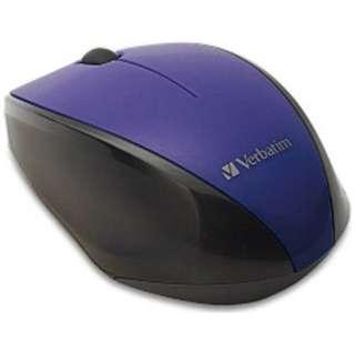 ワイヤレスBlue LEDマウス[2.4GHz・USB・Mac/Win](3ボタン・パープル) MUSWBLVV3