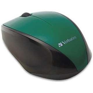 ワイヤレスBlue LEDマウス[2.4GHz・USB・Mac/Win](3ボタン・グリーン) MUSWBLGV3
