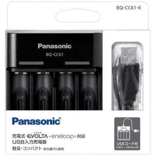 BQ-CC61 充電器 黒 [充電器のみ /単3形~単4形兼用]