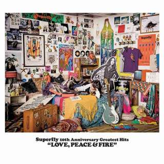Superfly/Superfly 10th Anniversary Greatest Hits『LOVE, PEACE & FIRE』 通常盤 【CD】