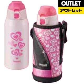 【アウトレット品】 【アウトレット品】 ステンレスボトル ストレートドリンク 800ml ピンク AJC-F80-P 【外装不良品】