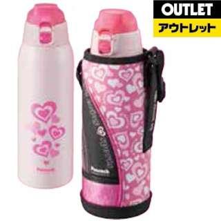 【アウトレット品】 【アウトレット品】 ステンレスボトル ストレートドリンク 1000ml ピンク AJC-F100-P 【外装不良品】