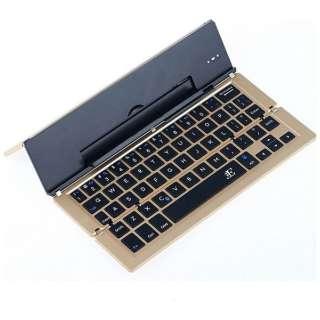 【スマホ/タブレット対応】ワイヤレスキーボード[Bluetooth・Android/iOS/Win] Stick (英語配列58キー・ゴールド) 3E-BKY2-G2