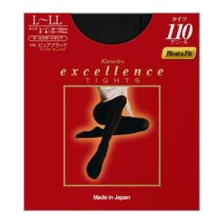 excellence(エクセレンス)タイツ 110デニール(LLサイズ)ブラック[タイツ]