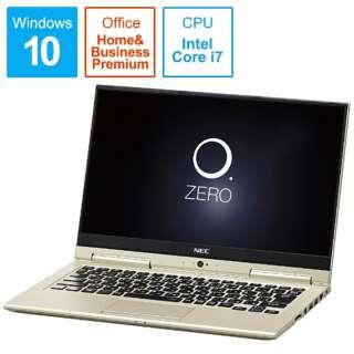 LAVIE Hybrid ZERO ノートパソコン プレシャスゴールド PC-HZ750GAG [13.3型 /intel Core i7 /SSD:256GB /メモリ:8GB /2017年2月モデル]