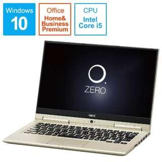 LAVIE Hybrid ZERO ノートパソコン プレシャスゴールド PC-HZ550GAG [13.3型 /intel Core i5 /SSD:256GB /メモリ:4GB /2017年2月モデル]