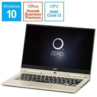 LAVIE Hybrid ZERO ノートパソコン プレシャスゴールド PC-HZ350GAG [13.3型 /intel Core i3 /SSD:128GB /メモリ:4GB /2017年2月モデル]