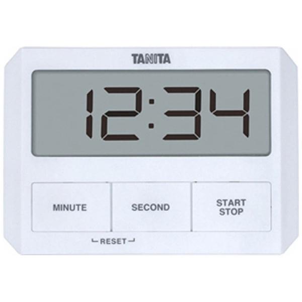 タニタ ガラスにつくタイマー TD-409-WH 調理器具