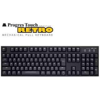キーボード CHERRY MX 静音赤軸 ProgresTouch RETRO [PS/2・USB /有線] AS-KBPD08/SRBKN [PS/2・USB /有線]