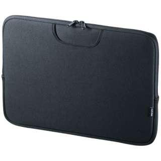ノートPC対応〔15.6型ワイド〕 ポケット付きインナーケース ブラック IN-WETP15BK
