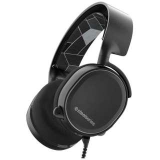 61434 ゲーミングヘッドセット Arctis 3 ブラック [φ3.5mmミニプラグ /両耳 /ヘッドバンドタイプ]