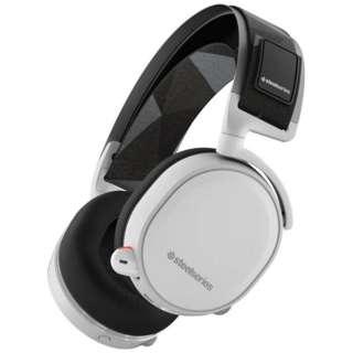 61464 ゲーミングヘッドセット Arctis 7 ホワイト [ワイヤレス(USB)+有線 /両耳 /ヘッドバンドタイプ]