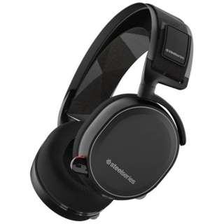 61463 ゲーミングヘッドセット Arctis 7 ブラック [ワイヤレス(USB)+有線 /両耳 /ヘッドバンドタイプ]