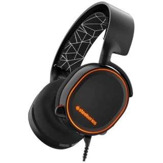 61444 ゲーミングヘッドセット Arctis 5 ブラック [φ3.5mmミニプラグ+USB /両耳 /ヘッドバンドタイプ]