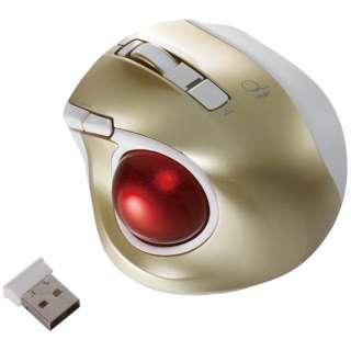 マウス Digio2 ゴールド MUS-TRLF132GL [レーザー /無線(ワイヤレス) /5ボタン /USB]