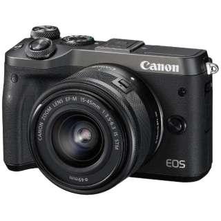 EOS M6 ミラーレス一眼カメラ EF-M15-45 IS STM レンズキット ブラック [ズームレンズ]