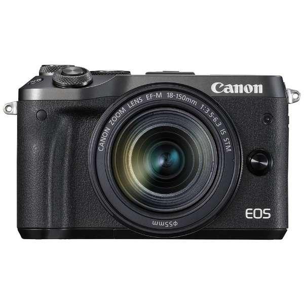 EOS M6 ミラーレス一眼カメラ EF-M18-150 IS STM レンズキット ブラック [ズームレンズ]