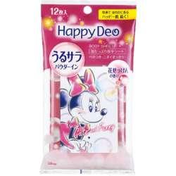 Happy Deo(ハッピーデオ) ボディシート うるサラ 花せっけん 12枚入り 〔デオドラント〕