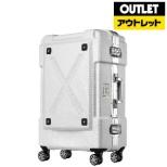 【アウトレット品】 背面収納付スーツケース 67L OUTDOOR(アウトドア) ホワイト 6303-62-WH [TSAロック搭載] 【外装不良品】