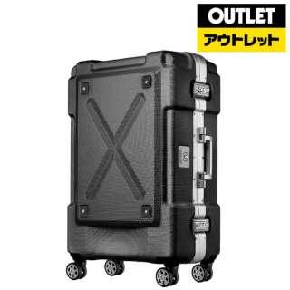 【アウトレット品】 背面収納付スーツケース 67L OUTDOOR(アウトドア) ブラック 6303-62-BK [TSAロック搭載] 【外装不良品】