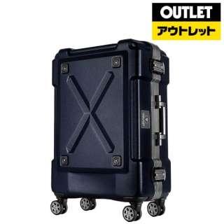 【アウトレット品】 背面収納付スーツケース 86L OUTDOOR(アウトドア) マットネイビー 6302-69-MAT-NV [TSAロック搭載] 【外装不良品】