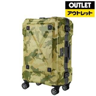 【アウトレット品】 背面収納付スーツケース 86L OUTDOOR(アウトドア) カモフラージュ 6302-69-CF [TSAロック搭載] 【外装不良品】