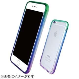 iPhone 7用 TPUソフトバンパー 染Bumper 幻惑 C2TST70BGNW5838