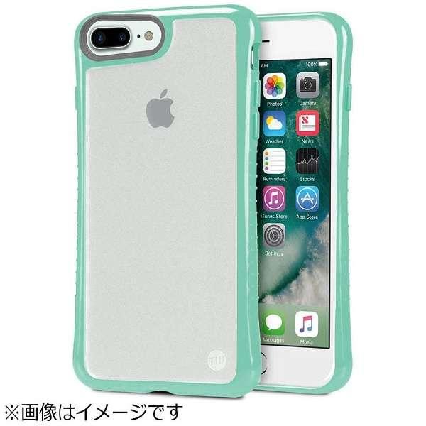 iPhone 7 Plus用 Hybrid Shell 衝撃吸収クリアケース ターコイズブルー TUN-PH-000527