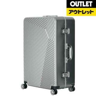 【アウトレット品】 金属質デザインABSスーツケース「PYRAMID」 (55L) シルバー 5602-60-SL 【数量限定品】