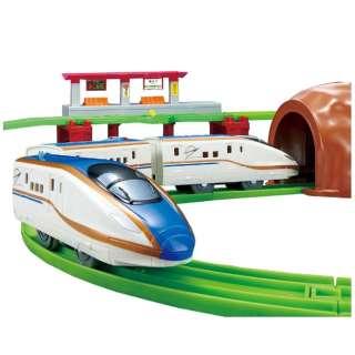 【初回版】プラレール にぎやかアナウンス! サウンドE7系 新幹線 かがやき レールセット