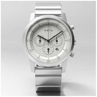 ウェアラブル端末 「wena wrist Chronograph White」 WN-WC01W