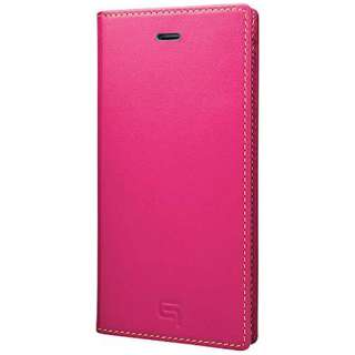 iPhone 6s/6用 手帳型レザーケース GRAMAS Full Leather Case SAPEUR Limited ピンクxターコイズxイエロー GRLC634L5PNK