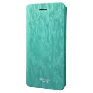 iPhone 7用 手帳型レザーケース GRAMAS FEMME Colo Flap Leather Case ターコイズ FLC246TQ