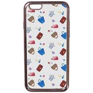 iPhone 7用 Like Me METALLIC TPUケース 総柄 bag LIKE718