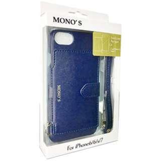 iPhone 7用 MONO'S hard case flip type ネイビー MHC67-003