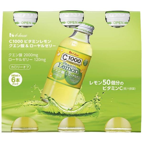 C1000 ビタミンレモン クエン酸&ローヤルゼリー 140ml ×6本 製品画像