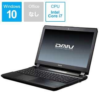 DAIV ノートパソコン 黒 BC-DAIVNG5720S1 [15.6型 /intel Core i7 /HDD:1TB /SSD:240GB /メモリ:16GB /2017年3月モデル]